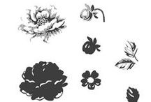 SU! Stippled Blossoms / Inspirations gathered for use with SU! Stippled Blossoms stamp set.
