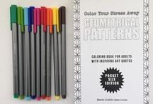 Color Your Stress Away : Geometrical Patterns / Coloring book for grown-ups and adults Available on Amazon :)  goo.gl/5rrq3Y