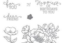 SU! Birthday Blooms / Inspirations gathered for use with SU! Birthday Blooms stamp set.