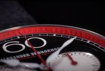 Avantgarde - Chronograph with the red inner ring / RED IS DISCREET - Masculine, sportive, unobtrusive - Alexander Shorokhov