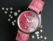 """Avantgarde - Lady Automatic MOP / """"Red is Natural"""" - The dial of this ladies watch is the natural """"Mother of Pearle"""""""