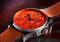 Avantgarde - Orange Chronograph / The Colour Orange appeals to our creativity, it helps to alleviate depression, to increase the inner drive and let optimism in our lives.