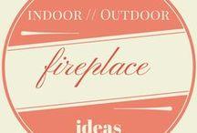 Indoor // Outdoor Fireplace Ideas