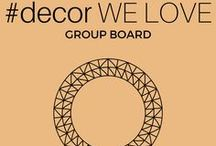 """#decor WE LOVE / Group board with amazing home decor ideas for interior.Group Board Rules:Pin only High Quality relevant pins (DECOR IDEAS)-No advertising-No spam or you will be BANNED.Pin max. 5 pins/day and max 2 pins at one time.For ADDING to this GROUP BOARD follow pinterest profile LAVORIST - @yourdreamhome9 and send us an email to yourdreamhome8@gmail.com // Check our other group board """"#interiors WE LOVE"""" too!"""