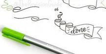 Doodeling / Söta doodles som jag gillar. Idéer och inspiration för  att förfina saker med finare titlar, design mm.