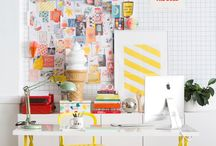 #workspace #sewing studio #textile storage / desk, writing table, craft room