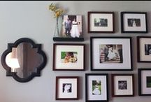 HOME: photo display layouts / All things home decor. The best photo display layouts and ideas from fashion and lifestyle blogger Still Being Molly.