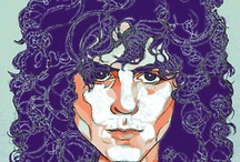 """i love Marc Bolan / Oct 1970 Ride A White Swan, Feb 1971 Hot Love, July 1971 Get It On, Nov 1971 Jeepster, Jan 1972 Telegram Sam, May 1972 Metal Guru, Sept 1972 The Children Of The Revolution, Dec 1972 Solid Gold Easy Action/Born To Boogie.  """"I relate 'Metal Guru' to all Gods around. I believe in a God, but I have no religion. With 'Metal Guru', it's like someone special, it must be a Godhead. I thought how God would be, he'd be all alone without a telephone. I don't answer the phone any more. I have codes."""" / by Christine Whyte"""