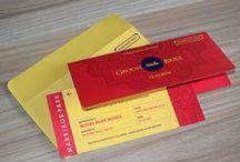 Air Ticket Style wedding invitation cards | Unique Wedding Cards