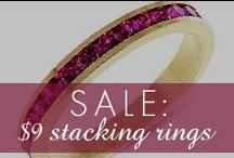 $9 Ring Stacking Sale!