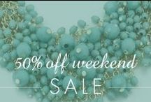50% OFF Weekend Sale / by Inspired Silver