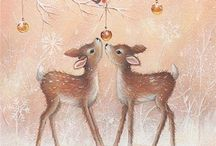 Vintage Christmas cards / by Lainie