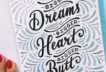 Lettering / Hand lettering | Inspiration | Art | Calligraphy | Typography | Amanda Arneill | Brush Lettering |