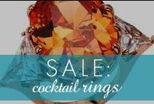 Cocktail Ring Sale! / Check out our cocktail rings on sale now until Jan. 21st!