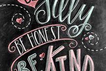 Chalkboard Lettering / Chalk Lettering, Lettering, Inspiration, Chalkboard Designs.
