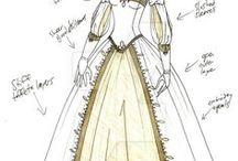 Abiti Medievali Femminili / Medieval dresses to create.