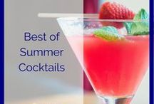 Summer Cocktails / Summer doesn't mean you're left with Gatorade, lemonade and water! I've collected the best of summer cocktails recipes to help you make sure you're truly having fun in the sun.