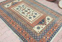 Oushak Rug / Turkish Vintage Rug, Tribal Turkish Kilim