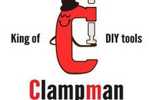 "Clampman / やっほ!僕はクランプマン!どんなものでも""ガッチン""して、君のDIYをサポートするよ♪  Hello! I'm clampman. I can fix anything ""Gacchin""!! I will support your DIY."