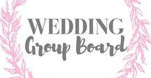 Wedding - Group Board / This board is for pinning all things wedding inspiration! Collaborators welcome! To join, please follow me and send me a message through Pinterest. Please pin high quality pins, affiliate links welcome. Pin as much as you like! Let's help each other! Happy Pinning!