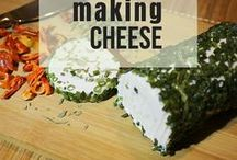 Making Cheese / Learn how to make your own diary at home! Making cheeses and yogurt at home is simple, healthy and frugal!