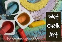 Chalk / Chalk art, chalk activities, chalk fine motor, outdoor chalk activities  / by Sheryl @ Teaching 2 and 3 Year Olds