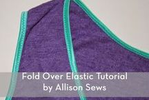 Sew-fold over elastic