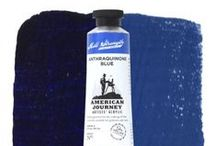 """American Journey Artists' Acrylic / Quality, value and a full line of exciting """"mill-strength"""" colors make American Journey Artists' Acrylic everything an artist looks for in a professional acrylic paint. May be thinned with water or various mediums. / by Cheap Joe's Art Stuff"""