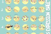 Facial expression memes
