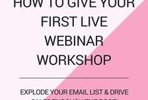 Webinar Tips and Ideas / A board full of webinar tips and ideas for your first or twenty first webinar! Always aim to improve and streamline your delivery process and provide the best value for your webinar attendees