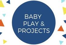 Baby Play & Projects / Things to do with your infant/baby or in your infant classroom. Ages 0-1. Lots of sensory exploration and face-to-face play time.