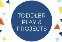 Toddler Play & Projects / Things to do with your toddler or in your toddler classroom. 1 and 2 year olds are busy little cuties! So many fun things to learn through play. They can be independent, but still need our guidance and help.