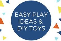 Easy Play Ideas & DIY Toys / Ever thought you could just throw your recycling on the ground and the kids would be entertained? On this board, you'll find ways to put that recycling container to use and make some toys and games. And other easy playful ideas, DIY toys (for you or your young children to make)