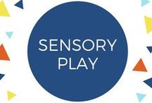 Sensory Play for Children / Sensory play for early education; activities for early childhood that involve the senses (except Sensory Table, which is another board all together!)