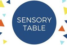 Sensory Table / Sensory experiences that you can put in your sensory or water table. Or in a tub on the floor, whatever works! For infants, toddlers, preschoolers and children with sensory disorders.