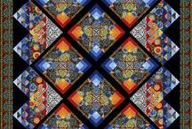 Misc Media Mosaics / Quilts, stained glass, polymer clay, stone, paper, quilling and more. / by V J