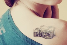 my sweet obsessions :) / #tattoo #cat #owl #vintage #camera #coffee #cupcake