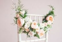 Pew Ends & Aisle Decor / Wedding pew end and aisle decoration ideas. Flower ideas for chair ends, church pew ends and aisle decor.