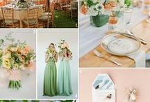 Colour Inspiration & Moodboards / Moodboards and ideas for different colour schemes and colour combinations. The best and most popular colour schemes for weddings and events.