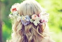 Fabulous Flower Crowns / Beautiful floral crowns for brides, bridesmaids and flower girls.