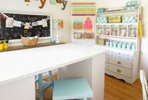 Craft Room & Home Office Ideas! / Crafts, decor, storage, and other clever ideas for your craft room or home office! #homedecor #DIY #decorations #decor #craft #craftroom #office #homeoffice #storage