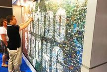 Photo-By-Photo Mosaics / A real-time photo mosaic mural installation created by hand, one photo at a time, creating a massive work of art. #interactive #eventprofs #eventtech #events