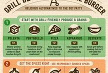 Healthy BBQ - Vegetarian / Grilled Vegetables & Fruit recipes, Healthy meat free BBQ.