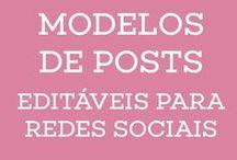 Modelos de posts para redes sociais / Kit de modelos de layout de posts de redes sociais. Facebook, instagram para usar no Canva.