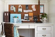 HOMES: Office Nooks / Ideas for Home office nooks~ **If you'd like to be ADDED to this board, just send me a quick note here on Pinterest or email me at helloredds@gmail.com.