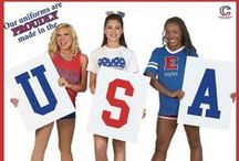 USA! USA! USA! / Show off your American Pride with our Patriotic Spirit  apparel and accessories!  / by Cheerleading Company: Bow to Toe