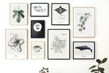 Art display / How to hang and display art in the home.