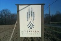 myer  farm Distillers / Myer Farm Distillers is nestled in the heart of the Finger Lakes Region of New York State amid the thriving wineries of the Cayuga Wine Trail.  http://www.myerfarmdistillers.com/about/