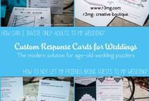 wedding - response / rsvp cards / by r3mg:: creative boutique