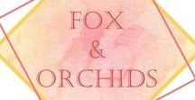 Fox and Orchids knitwear